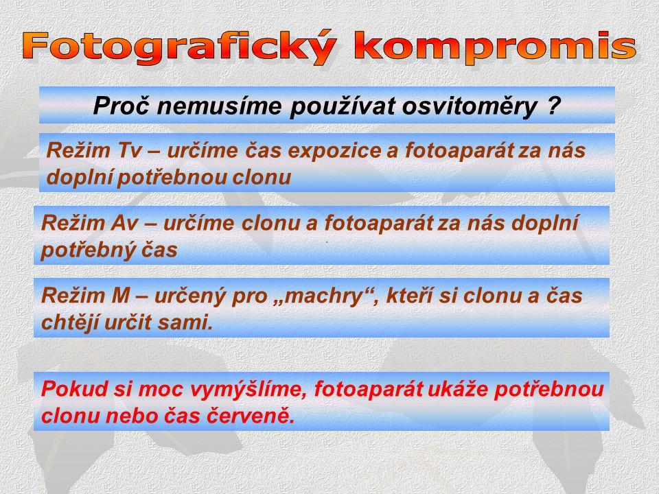 Fotografický kompromis Proč nemusíme používat osvitoměry