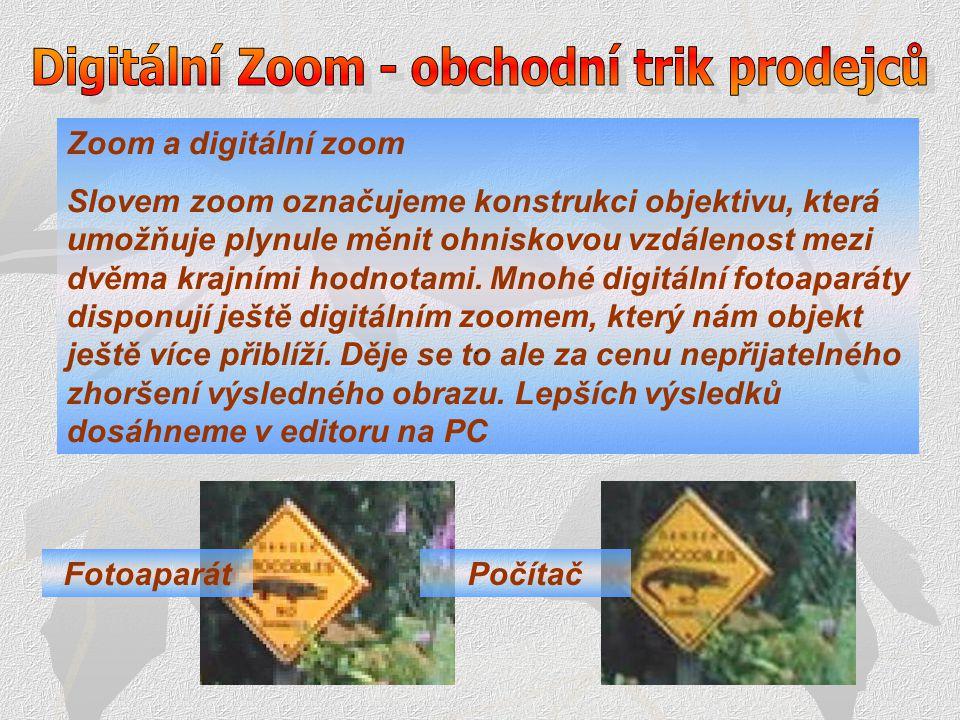 Digitální Zoom - obchodní trik prodejců