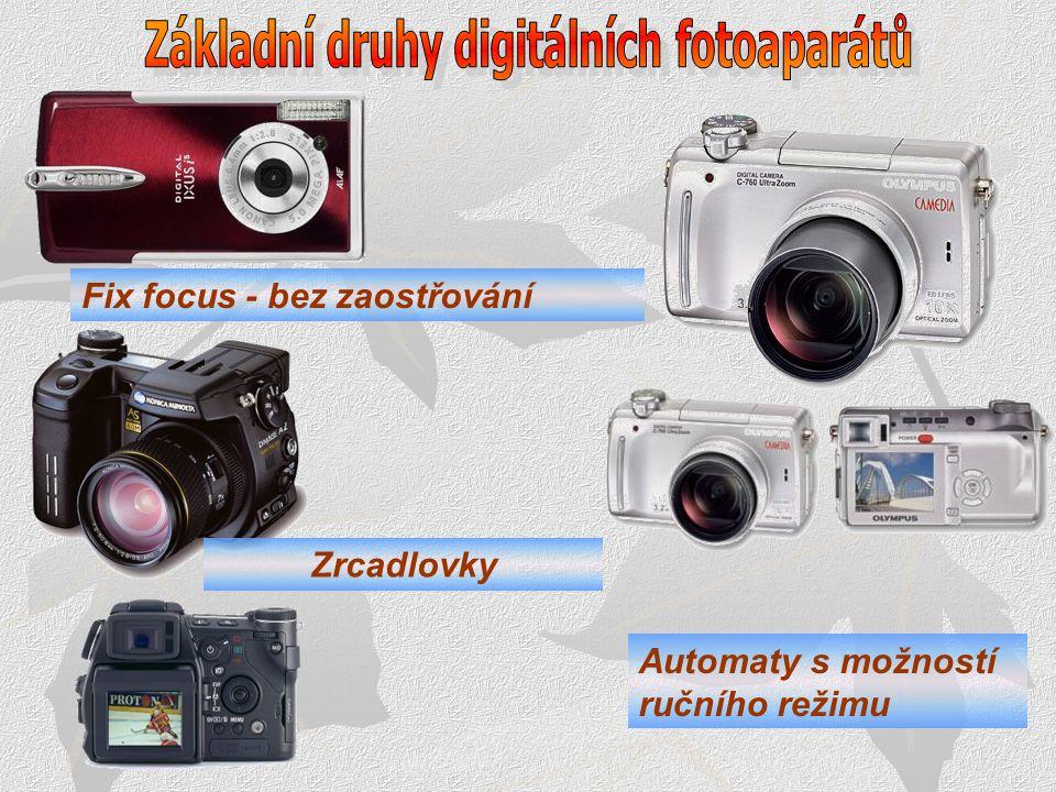Základní druhy digitálních fotoaparátů