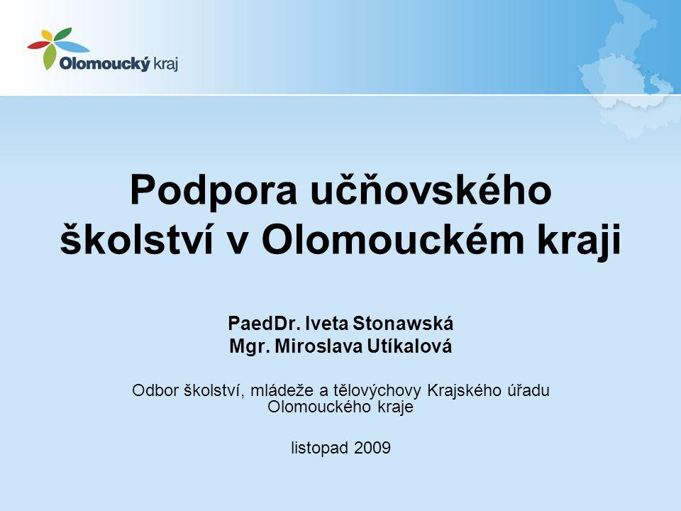 Podpora učňovského školství v Olomouckém kraji