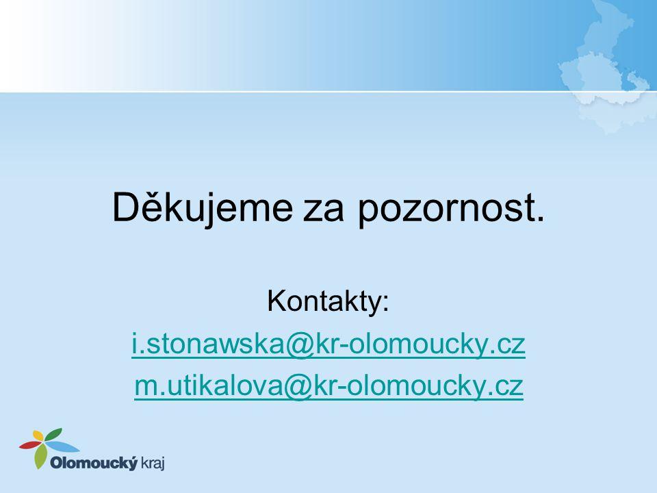 Kontakty: i.stonawska@kr-olomoucky.cz m.utikalova@kr-olomoucky.cz