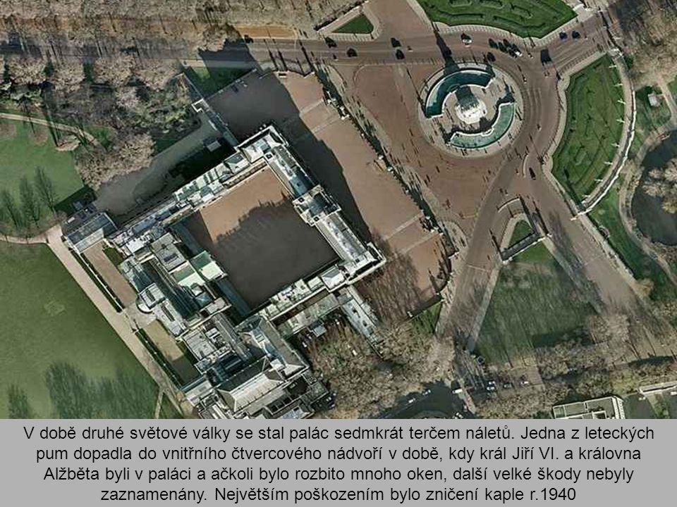 V době druhé světové války se stal palác sedmkrát terčem náletů