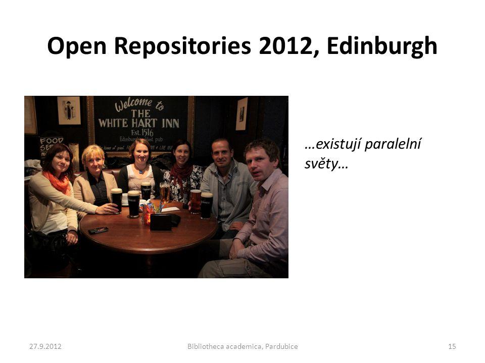 Open Repositories 2012, Edinburgh