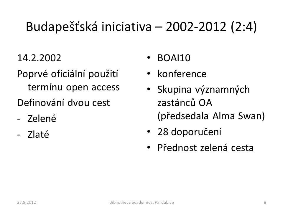 Budapešťská iniciativa – 2002-2012 (2:4)
