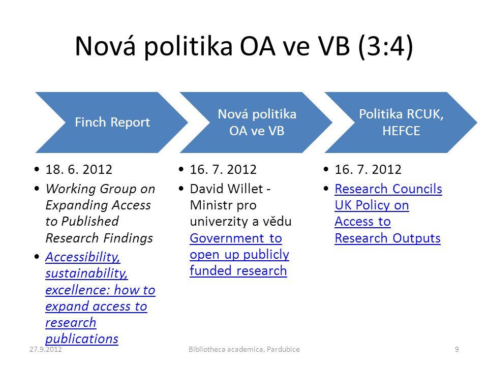 Nová politika OA ve VB (3:4)