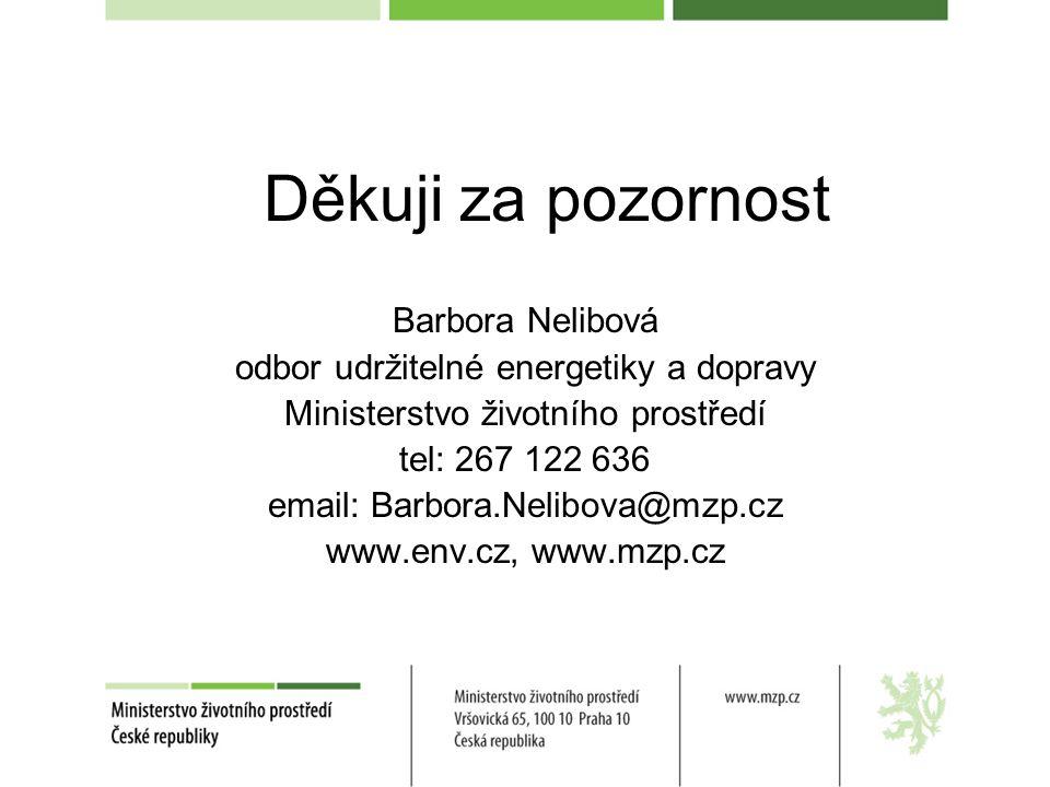 Děkuji za pozornost Barbora Nelibová