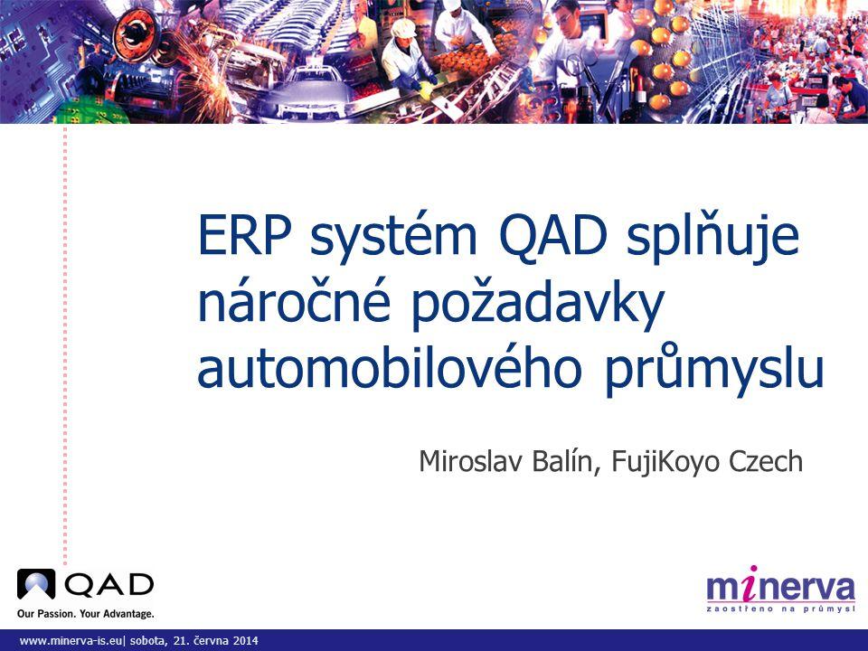 ERP systém QAD splňuje náročné požadavky automobilového průmyslu