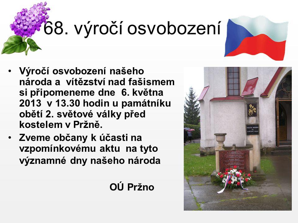68. výročí osvobození
