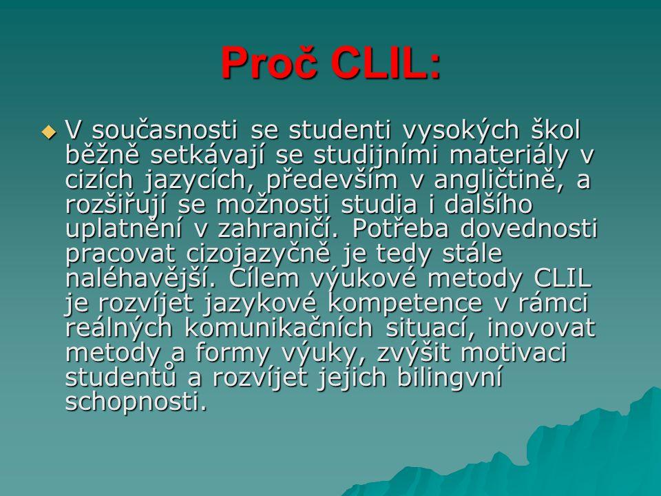 Proč CLIL: