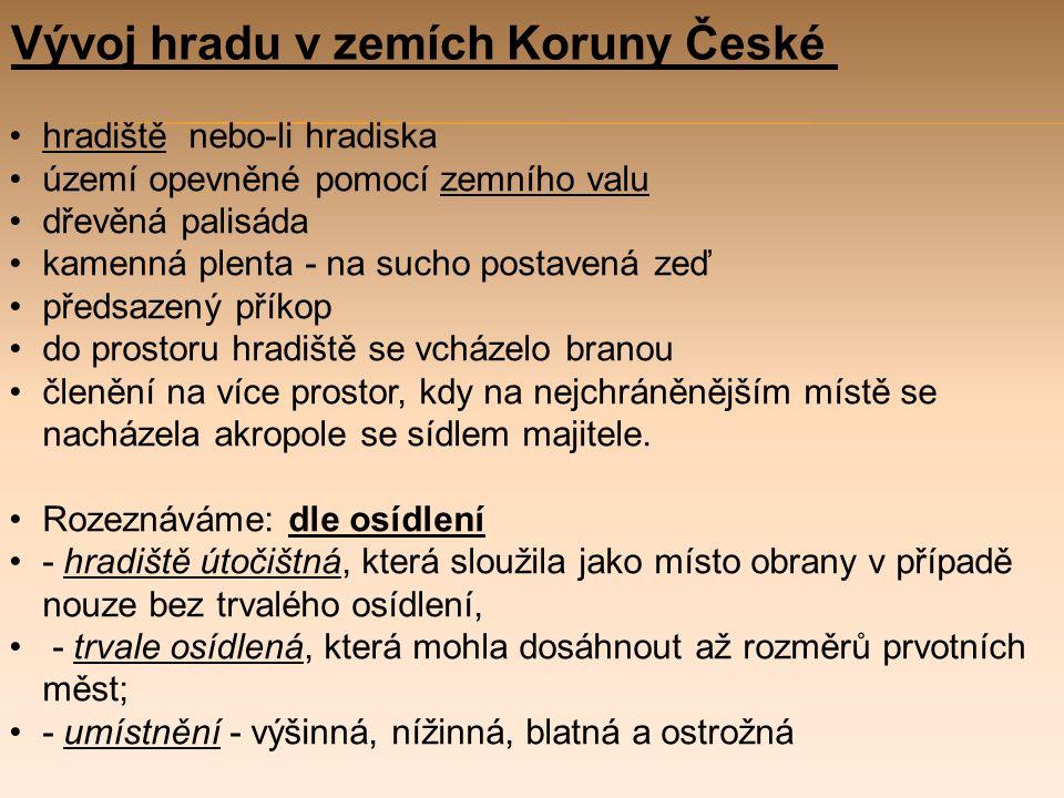 Vývoj hradu v zemích Koruny České