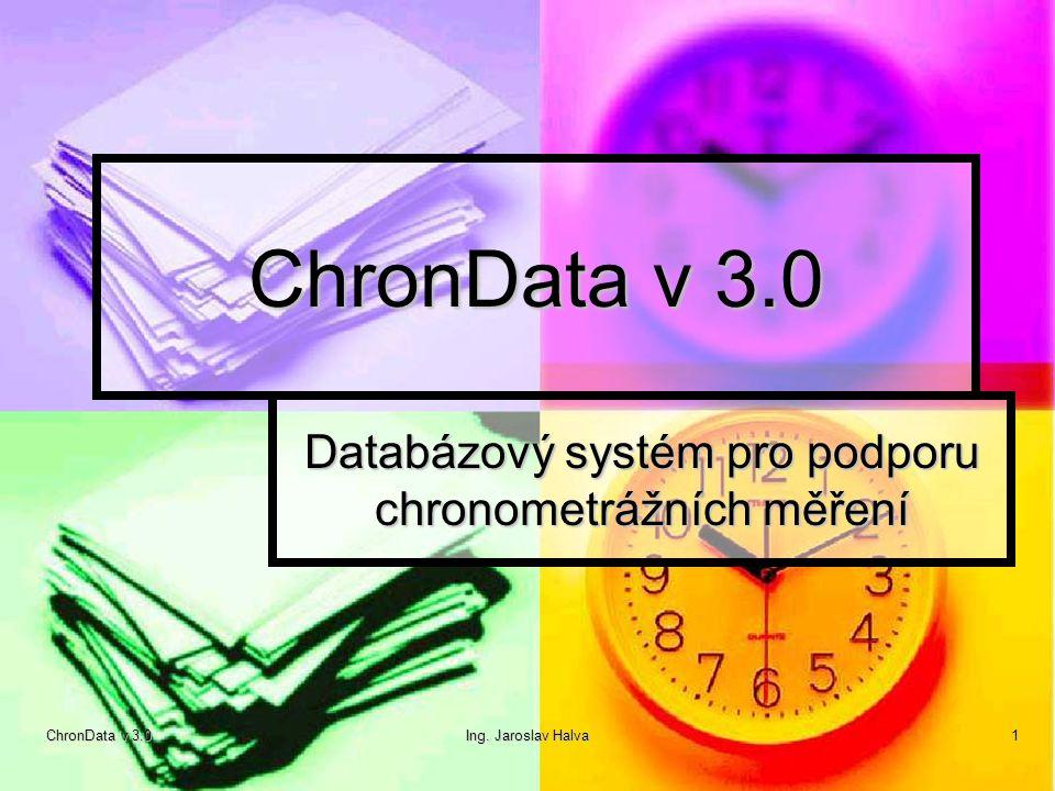 Databázový systém pro podporu chronometrážních měření