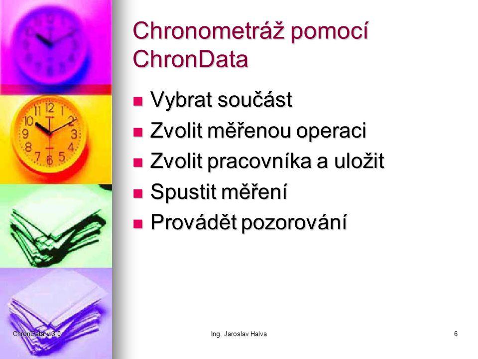 Chronometráž pomocí ChronData