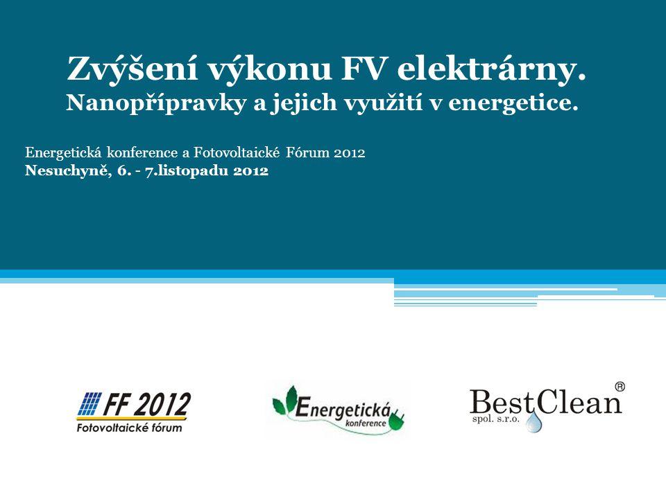Zvýšení výkonu FV elektrárny