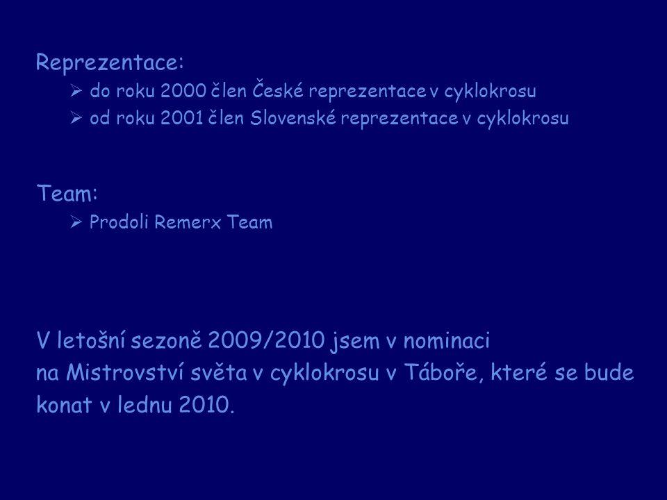 V letošní sezoně 2009/2010 jsem v nominaci