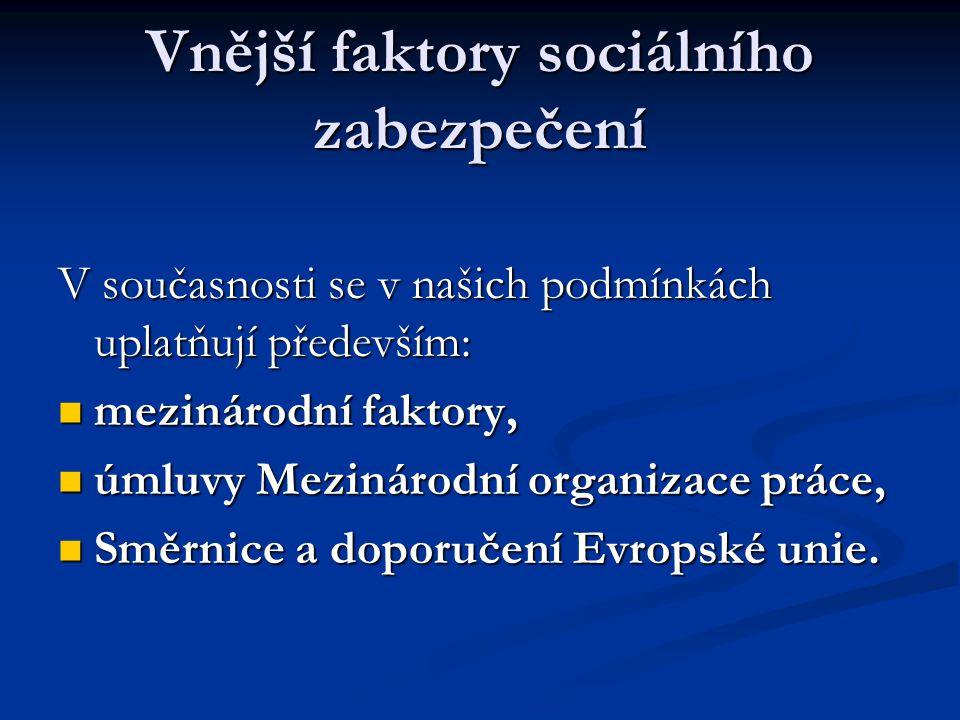 Vnější faktory sociálního zabezpečení