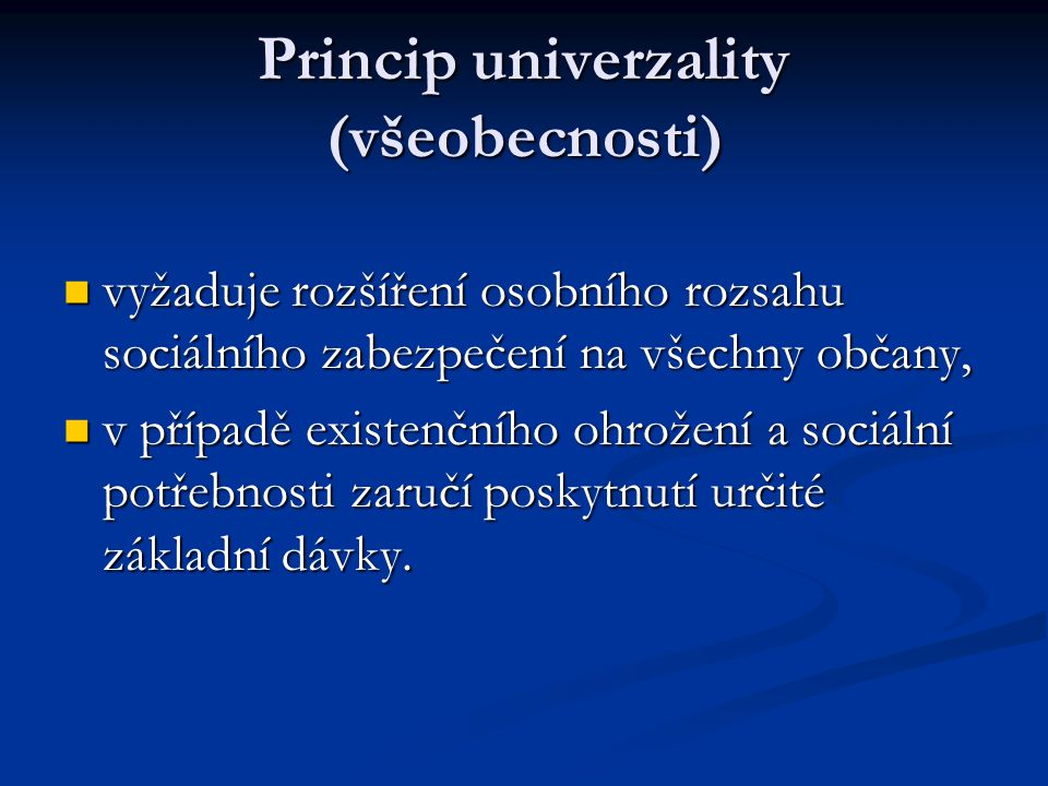 Princip univerzality (všeobecnosti)