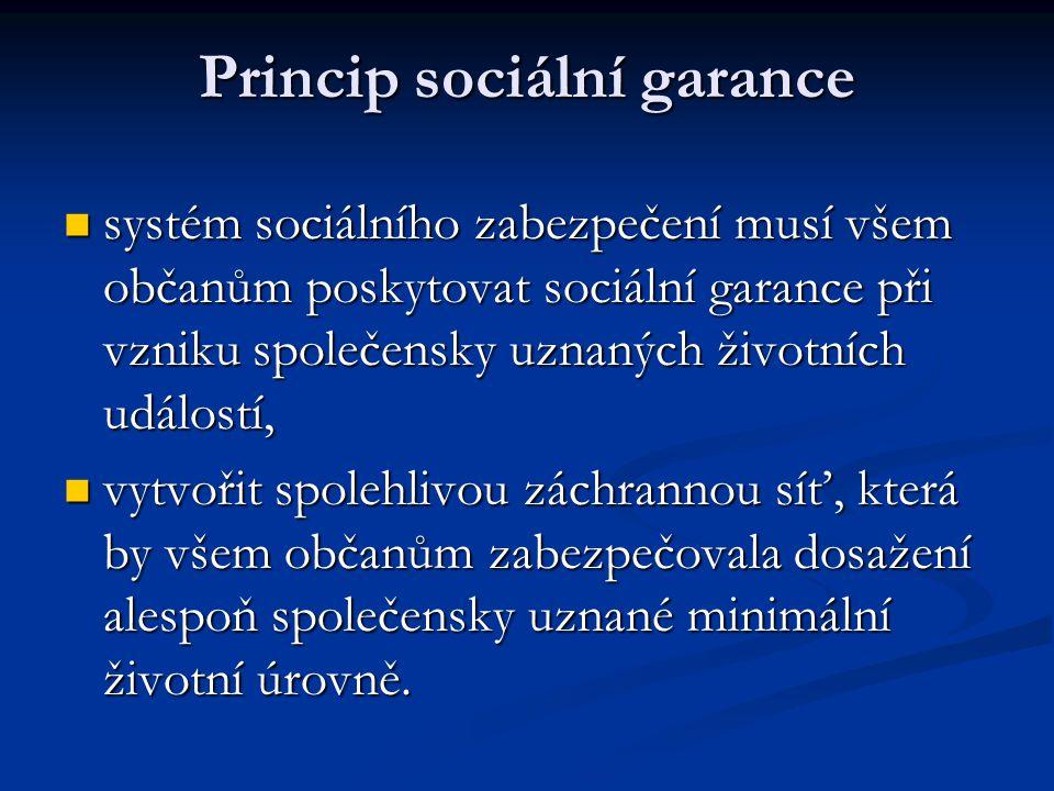 Princip sociální garance