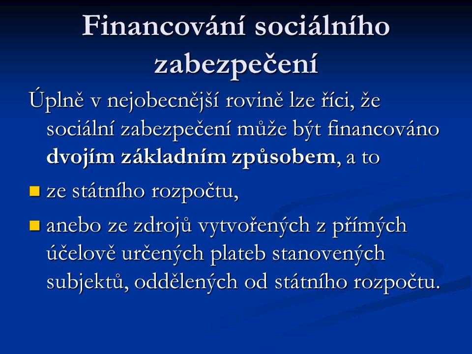 Financování sociálního zabezpečení