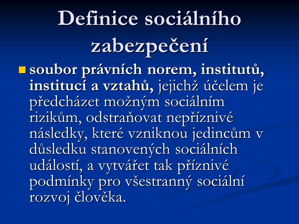 Definice sociálního zabezpečení