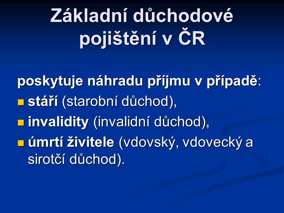 Základní důchodové pojištění v ČR