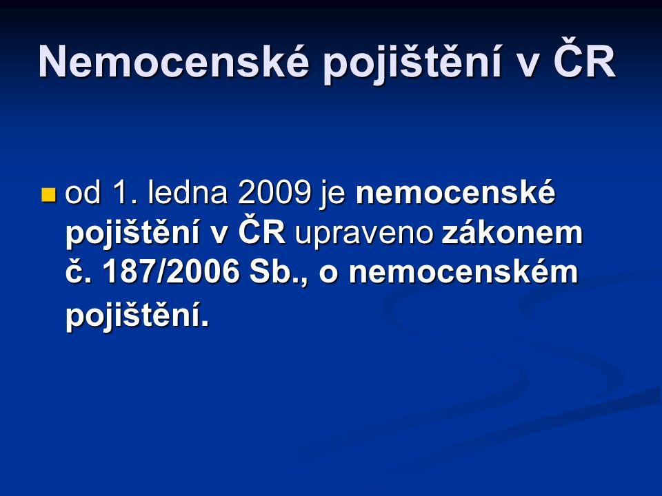Nemocenské pojištění v ČR