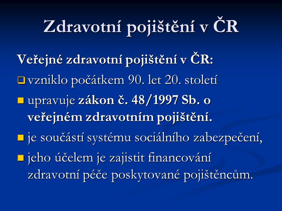 Zdravotní pojištění v ČR