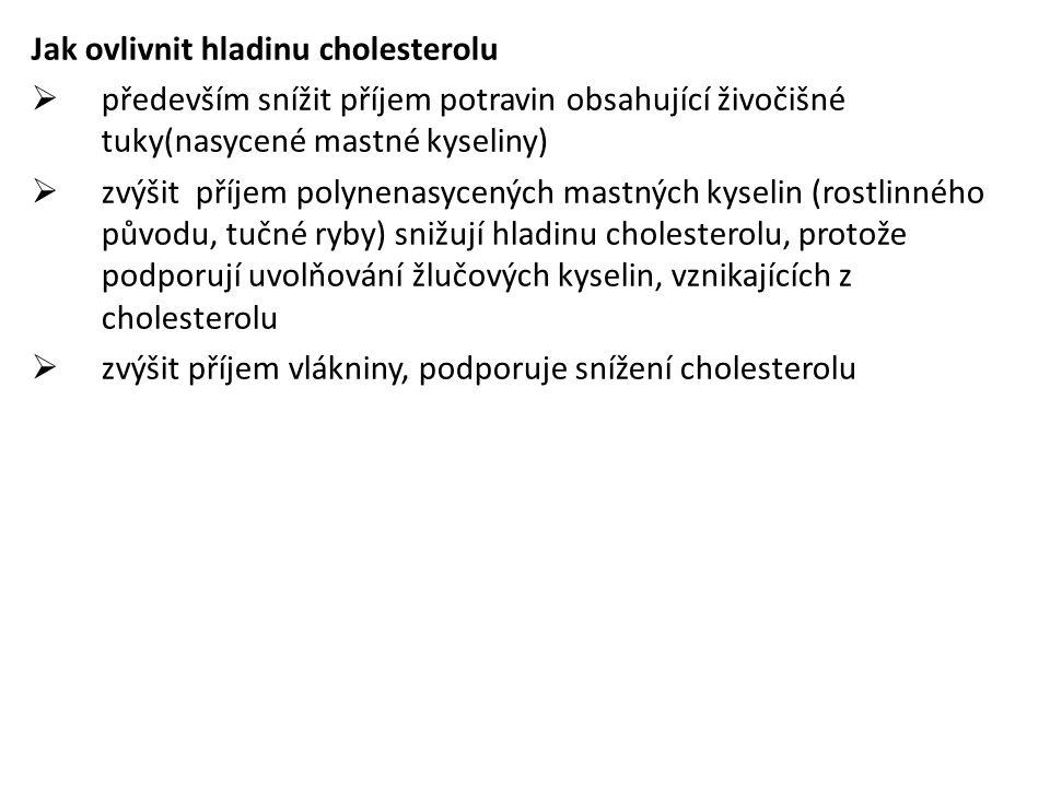Jak ovlivnit hladinu cholesterolu