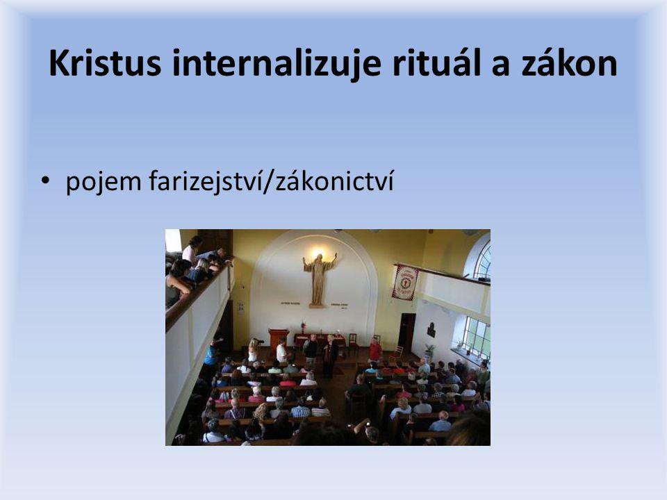 Kristus internalizuje rituál a zákon