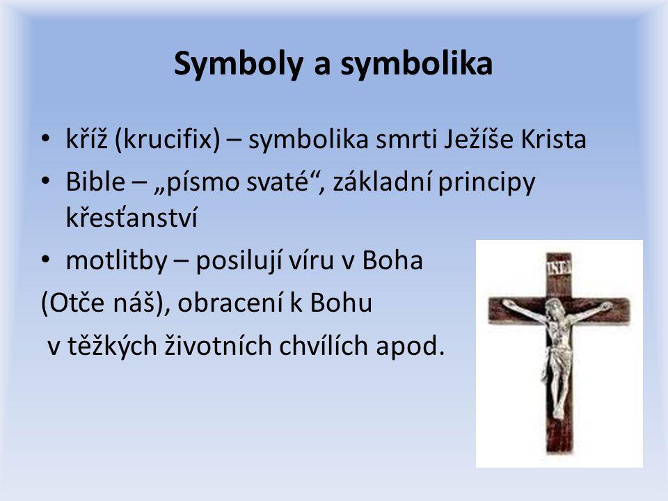 Symboly a symbolika kříž (krucifix) – symbolika smrti Ježíše Krista