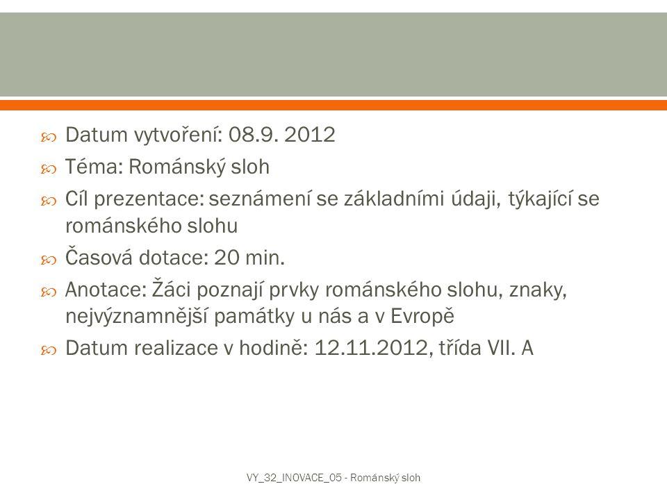 VY_32_INOVACE_05 - Románský sloh