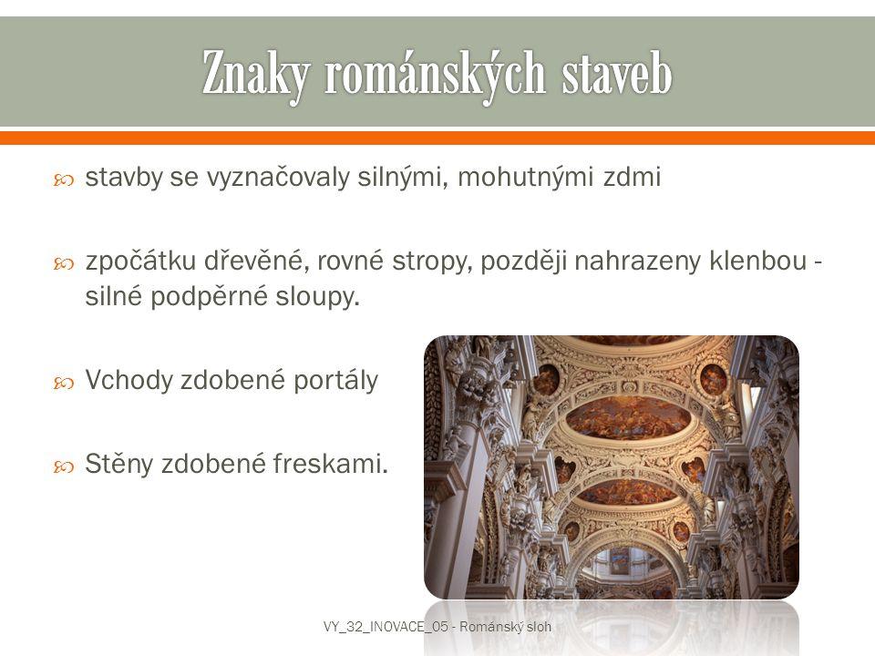 Znaky románských staveb