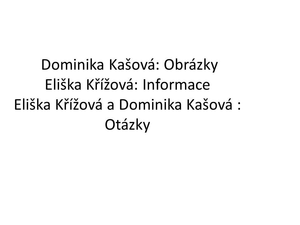Dominika Kašová: Obrázky Eliška Křížová: Informace Eliška Křížová a Dominika Kašová : Otázky