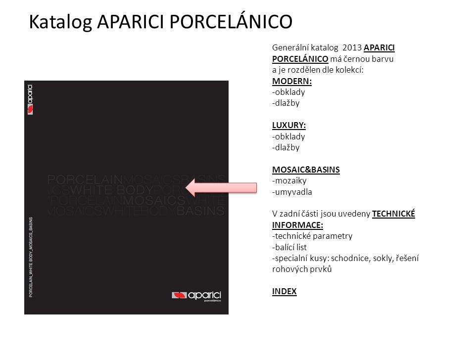 Katalog APARICI PORCELÁNICO
