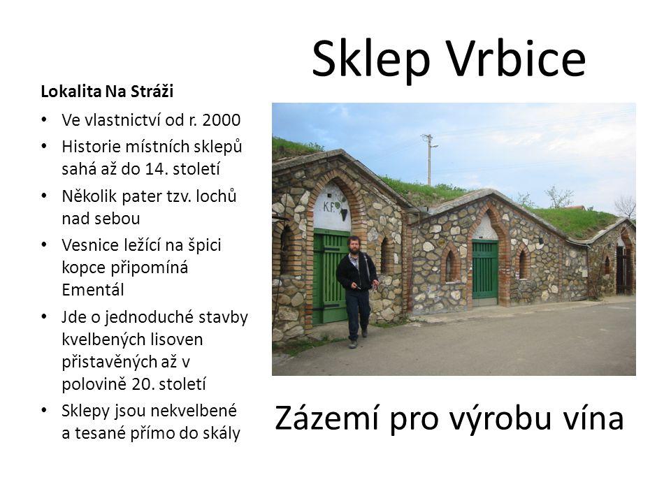 Sklep Vrbice Zázemí pro výrobu vína Lokalita Na Stráži