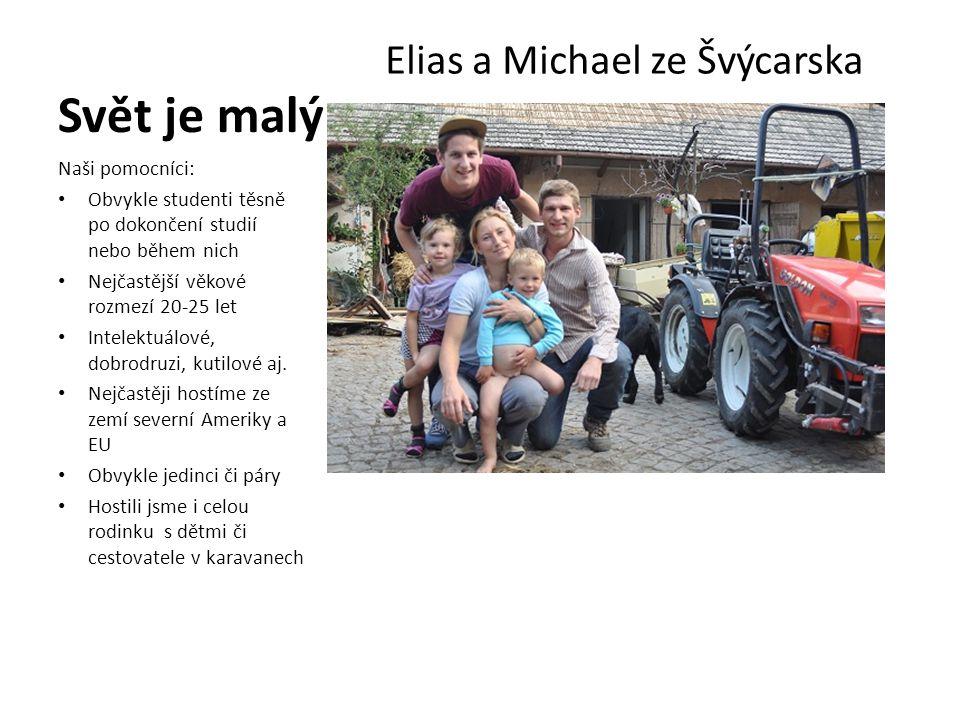 Svět je malý Elias a Michael ze Švýcarska Naši pomocníci:
