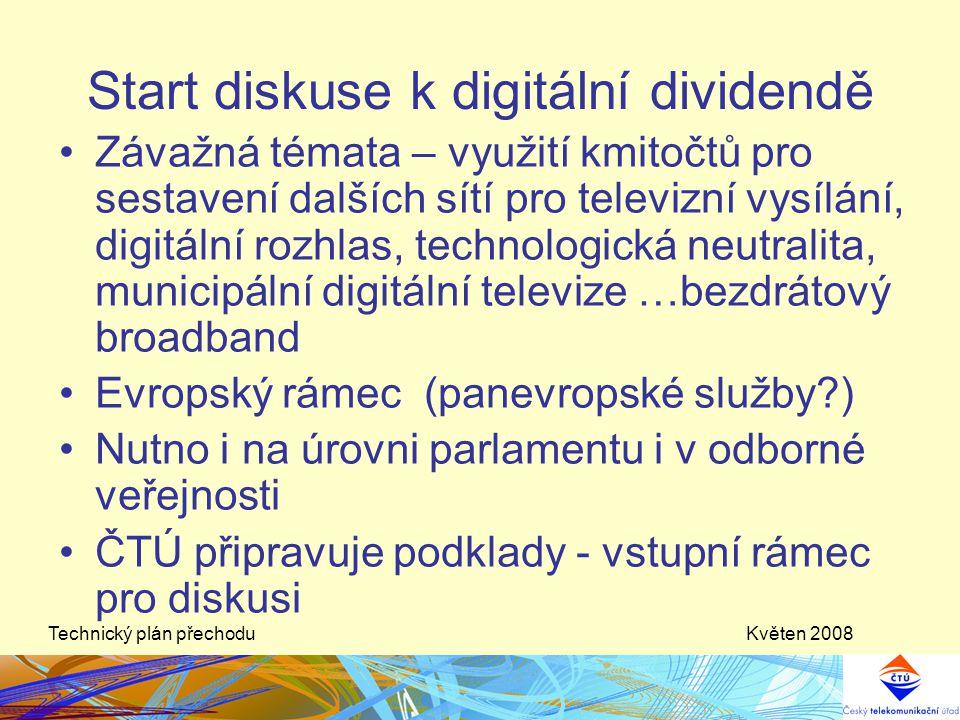 Start diskuse k digitální dividendě