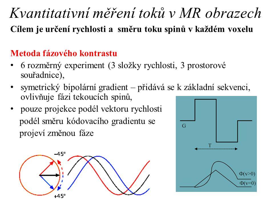 Kvantitativní měření toků v MR obrazech