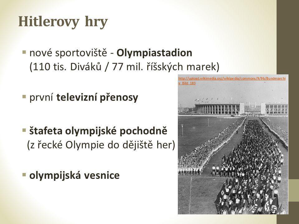 Hitlerovy hry nové sportoviště - Olympiastadion