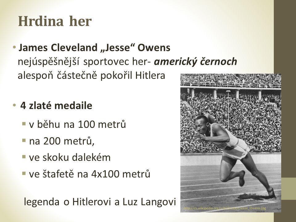 """Hrdina her James Cleveland """"Jesse Owens"""