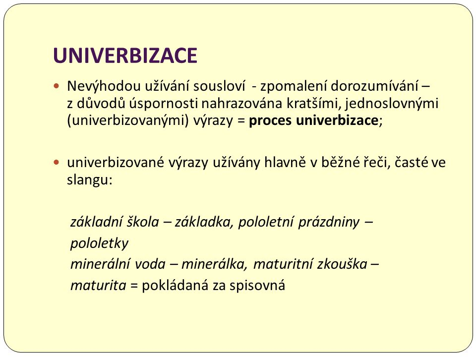 UNIVERBIZACE