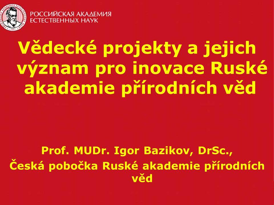 Vědecké projekty a jejich význam pro inovace Ruské akademie přírodních věd