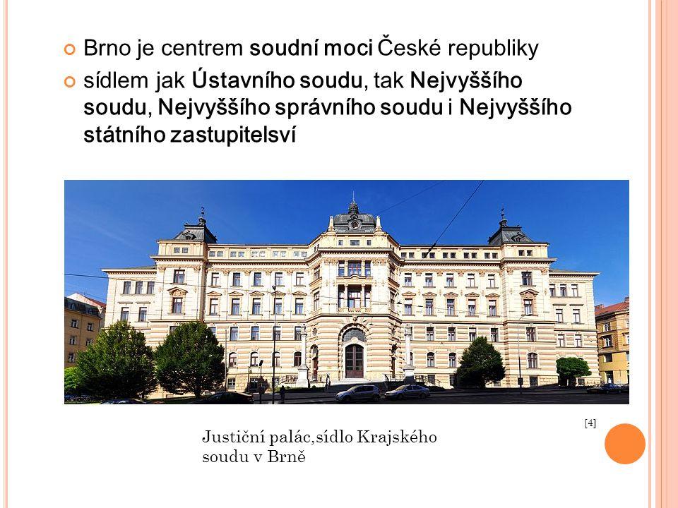 Brno je centrem soudní moci České republiky