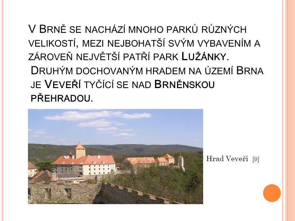 V Brně se nachází mnoho parků různých velikostí, mezi nejbohatší svým vybavením a zároveň největší patří park Lužánky.