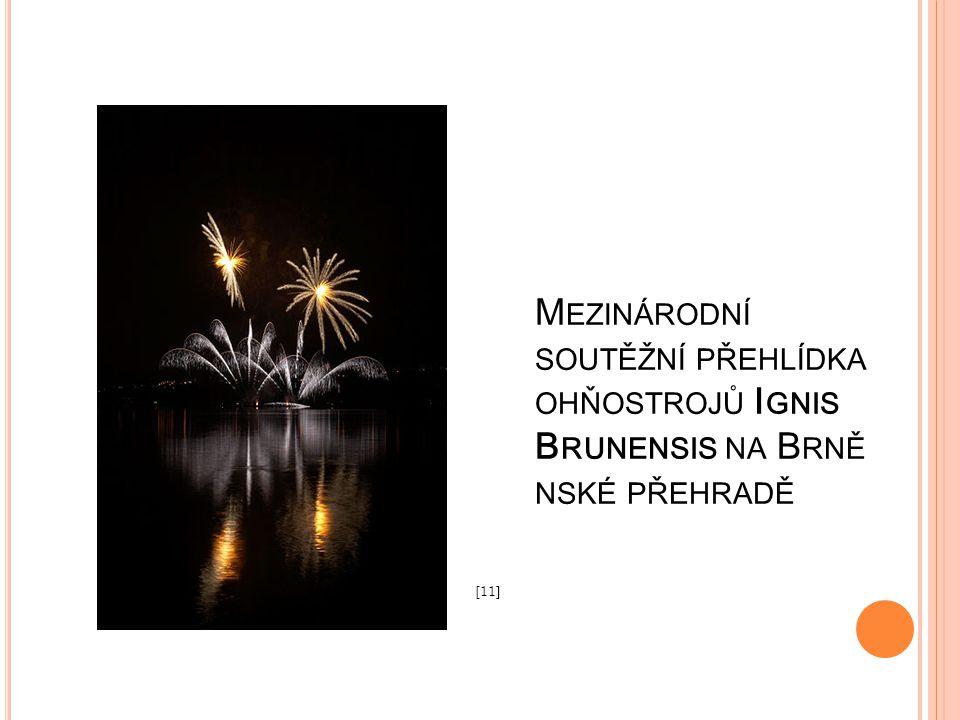 Mezinárodní soutěžní přehlídka ohňostrojů Ignis Brunensis na Brněnské přehradě
