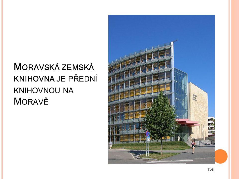 Moravská zemská knihovna je přední knihovnou na Moravě