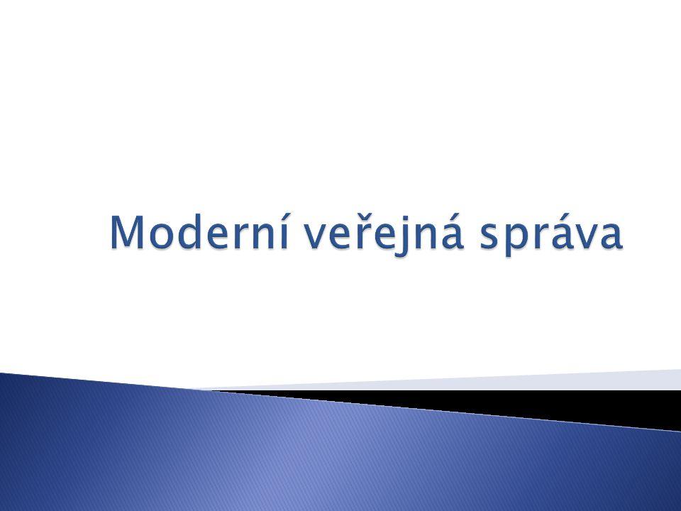Moderní veřejná správa