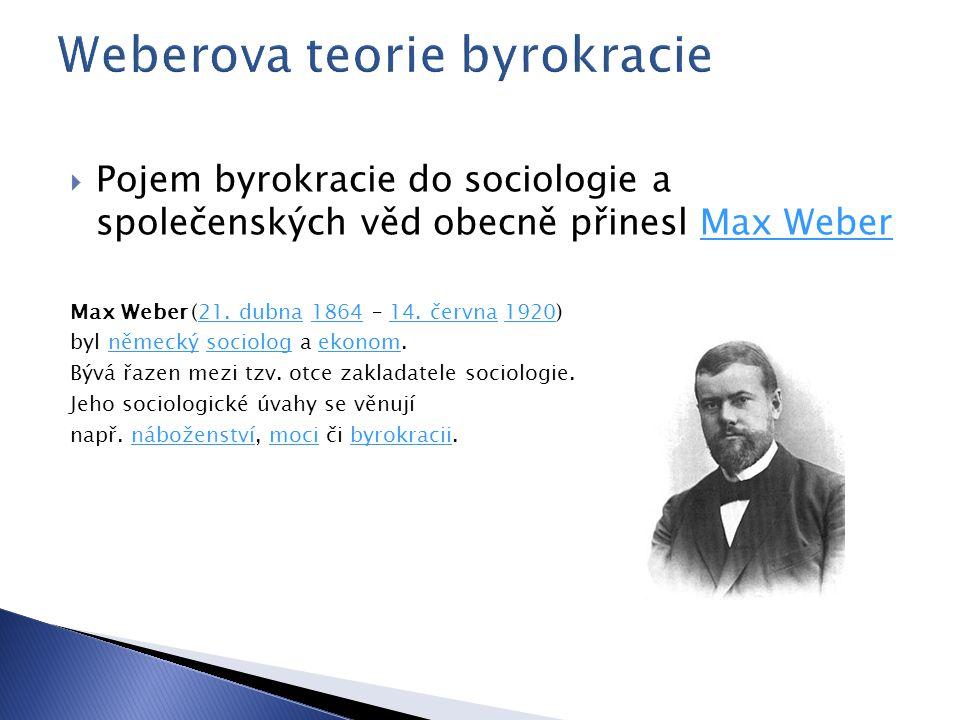 Weberova teorie byrokracie