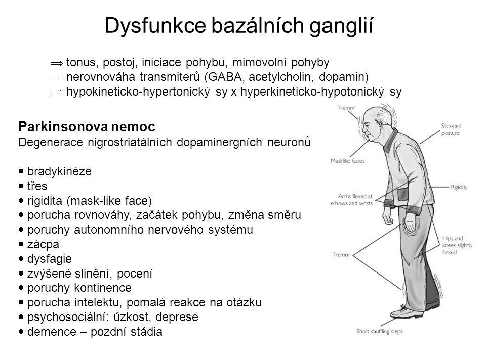 Dysfunkce bazálních ganglií