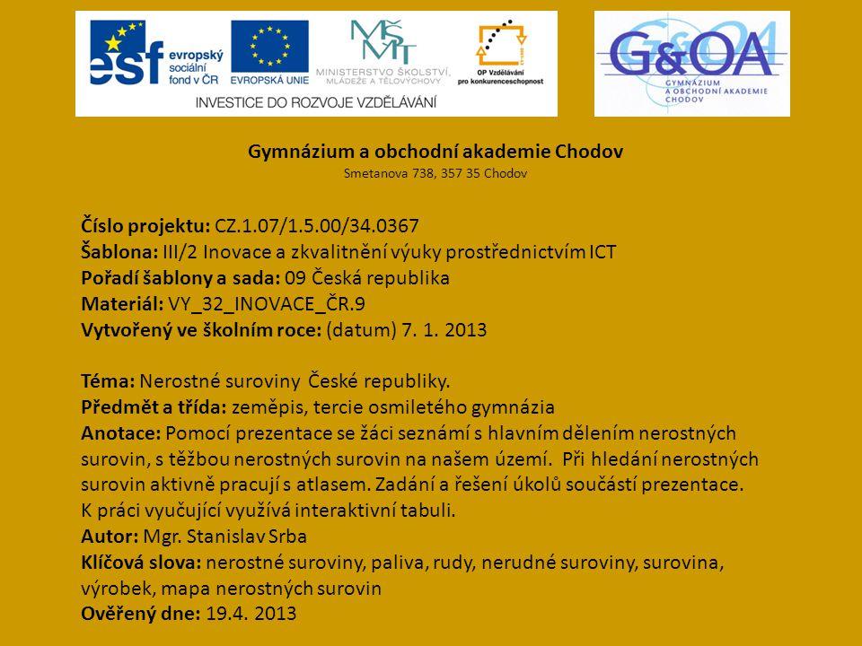 Gymnázium a obchodní akademie Chodov