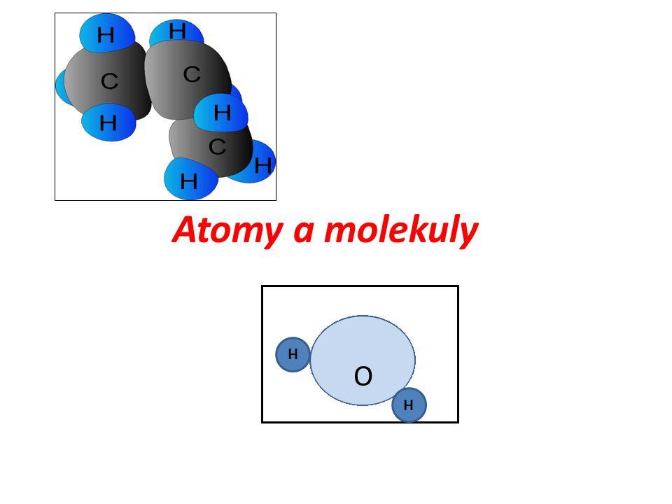 Atomy a molekuly H O H